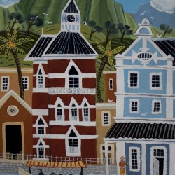Clock Tower Waterfront Cape Town 2013 Acrylic on board
